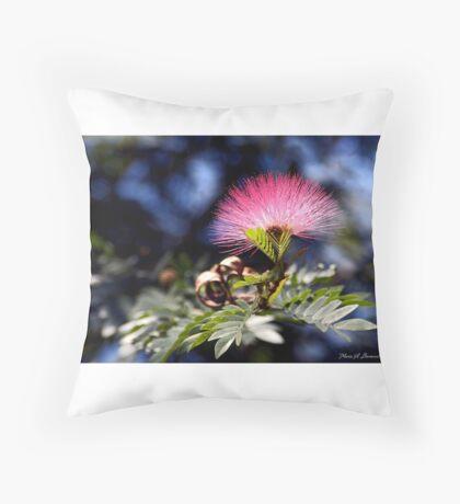 Fairy Duster Powderpuff Throw Pillow