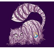 Inside wonderland (cheshire cat) Photographic Print