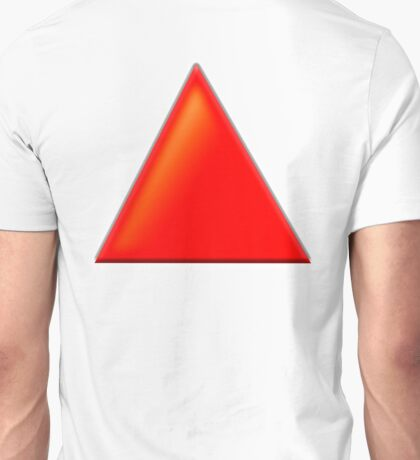 RED, TRIANGLE Unisex T-Shirt