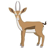 Cute cartoon gazelle Photographic Print