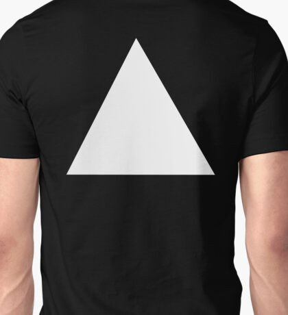 TRIANGLE, White, on Black, Pure and simple Unisex T-Shirt