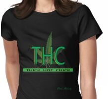 T.H.C (THICK HOT CHICK) Womens Fitted T-Shirt