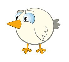 Funny cartoon bird Photographic Print