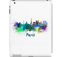 Paris skyline in watercolor iPad Case/Skin