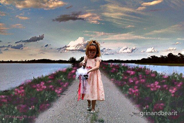 Girl In Paint by grinandbearit