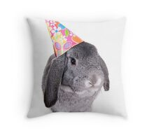 Birthday Rabbit Throw Pillow