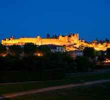 Carcassonne at night by lepreskil