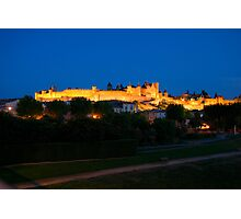 Carcassonne at night Photographic Print