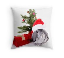 Christmas Rabbit Throw Pillow