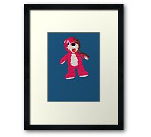 Pink Teddy Bear Breaking Bad Framed Print