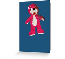 Pink Teddy Bear Breaking Bad Greeting Card