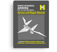 Arwing Service and Repair Manual Canvas Print