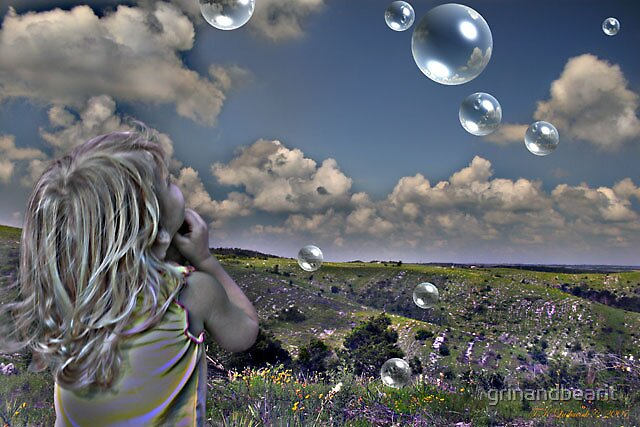 Playing with Bubbles by grinandbearit