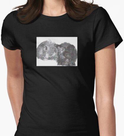 Guinea Pig Friends Womens Fitted T-Shirt