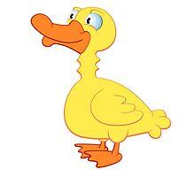 Cute cartoon duck Photographic Print