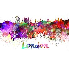 London skyline in watercolor by paulrommer