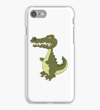 Funny cartoon crocodile iPhone Case/Skin