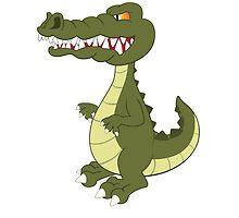 Funny cartoon crocodile by berlinrob