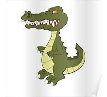 Funny cartoon crocodile Poster