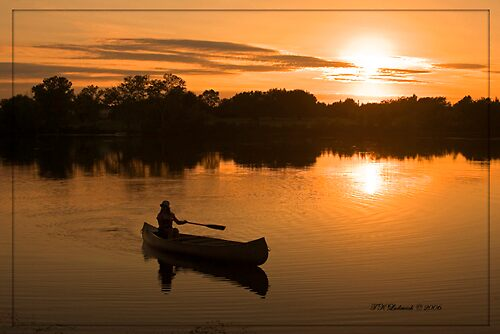 Sunset Canoeing by grinandbearit