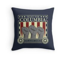 Fight for Columbia Throw Pillow