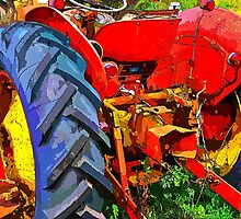 Abandoned rusty old tractor by Ron Zmiri