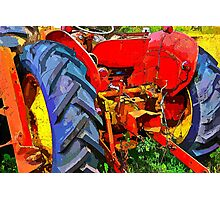 Abandoned rusty old tractor Photographic Print