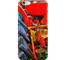 Abandoned rusty old tractor iPhone Case/Skin