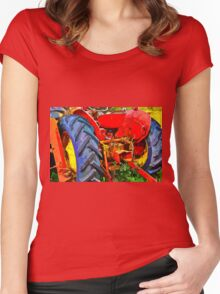 Abandoned rusty old tractor Women's Fitted Scoop T-Shirt
