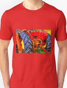 Abandoned rusty old tractor Unisex T-Shirt