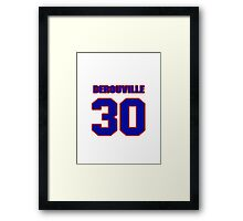 National Hockey player Philippe DeRouville jersey 30 Framed Print