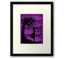 The Hanging Tree(Lyrics Version) - Hunger Games Framed Print