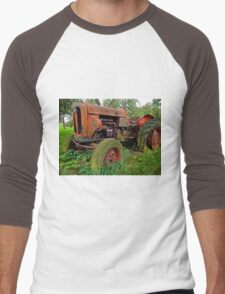 Old vintage tractor digital art Men's Baseball ¾ T-Shirt