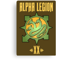 Alpha Legion XX - Warhammer Canvas Print