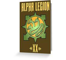 Alpha Legion XX - Warhammer Greeting Card