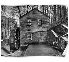 The Rice Gristmill (HDR) B&W Poster