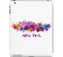 New York skyline in watercolor iPad Case/Skin