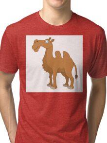 Funny cartoon camel Tri-blend T-Shirt