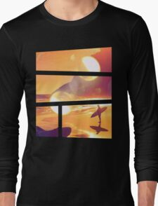 Dreaming of Sunset Surfing Long Sleeve T-Shirt