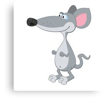 Funny cute cartoon mouse Canvas Print