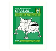 Starbug Service and Repair Manual Art Print
