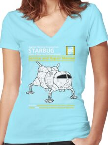 Starbug Service and Repair Manual Women's Fitted V-Neck T-Shirt