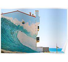 The Wave Trompe l'oeil - Hossegor, France. Poster
