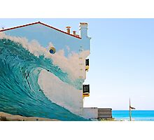 The Wave Trompe l'oeil - Hossegor, France. Photographic Print