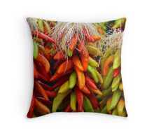 Colorful Chile Ristras Throw Pillow
