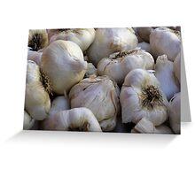 Garlic in the Raw Greeting Card