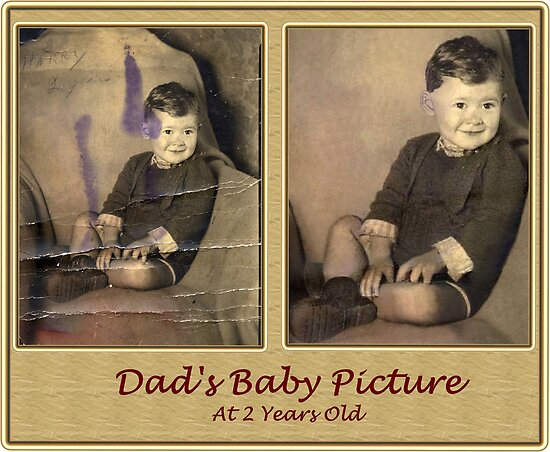 Dad At 2 Years Old, Restoration, Before And After by tim100