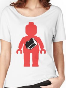 Red Minifig with 1 x 2 Brick Logo, Customize My Minifig Women's Relaxed Fit T-Shirt