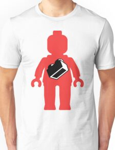 Red Minifig with 1 x 2 Brick Logo, Customize My Minifig Unisex T-Shirt