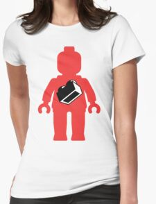 Red Minifig with 1 x 2 Brick Logo, Customize My Minifig T-Shirt
